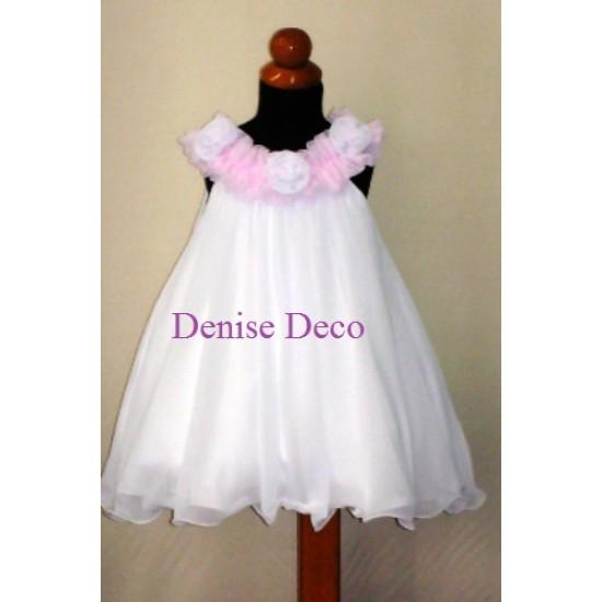 01d01e5f9dd Βαπτιστικο Φορεμα μουσελινα-τουλι