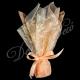 Μπομπονιέρα τουλινη δαντελα κλαδι ελιας