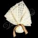 Μπομπονιέρα μαργαριτα με δεσιμο λινατσας